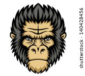 ape head logo in black and... | Shutterstock . vector #140428456