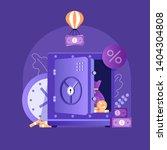 banking term deposit concept... | Shutterstock .eps vector #1404304808