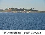 Folsom Dam In California Behind ...