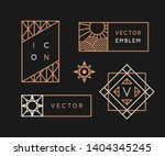 vector logo design templates... | Shutterstock .eps vector #1404345245