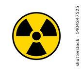 Radioactive Warning Yellow...