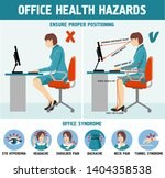 office health hazards... | Shutterstock .eps vector #1404358538