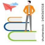 vector illustration with man... | Shutterstock .eps vector #1404365318