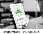 tablet screen displaying a... | Shutterstock . vector #1404380015