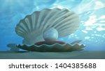 mother of pearls underwater.... | Shutterstock . vector #1404385688