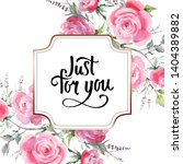 pink rose bouquet floral... | Shutterstock . vector #1404389882