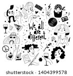 we all are different set of... | Shutterstock .eps vector #1404399578