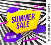 summer sale vector banner... | Shutterstock .eps vector #1404436955