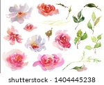 collection hand drawing... | Shutterstock . vector #1404445238