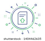 upload document line icon.... | Shutterstock .eps vector #1404462635