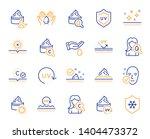 skin care line icons. collagen  ... | Shutterstock .eps vector #1404473372