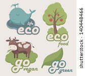 ecological  set | Shutterstock .eps vector #140448466