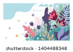 floral background for greeting... | Shutterstock . vector #1404488348