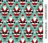 christmas santa gift wrapping... | Shutterstock .eps vector #140451085