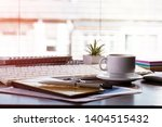 accounting. items for doing... | Shutterstock . vector #1404515432