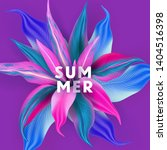 summer tropical flower poster... | Shutterstock .eps vector #1404516398