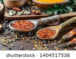 spices and seasonings for... | Shutterstock . vector #1404517538