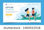 running landing page template.... | Shutterstock .eps vector #1404522518