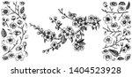 blooming cherry branch  vector... | Shutterstock .eps vector #1404523928