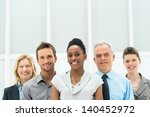 smiling multi ethnic business... | Shutterstock . vector #140452972