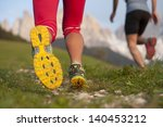running in the dolomite   shoe... | Shutterstock . vector #140453212
