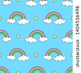sky pattern with rainbows ... | Shutterstock . vector #1404536498