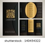 vintage style brochure template ... | Shutterstock .eps vector #140454322
