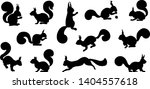 various squirrel silhouette on... | Shutterstock .eps vector #1404557618
