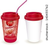 vector illustration  paper cups ... | Shutterstock .eps vector #140455762