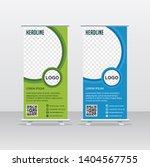roll up business brochure flyer ... | Shutterstock .eps vector #1404567755