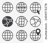 earth globes vector icons set  | Shutterstock .eps vector #1404573278