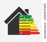 energy efficiency home rating... | Shutterstock .eps vector #1404575345