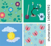 backgrounds with flowers ... | Shutterstock .eps vector #140457592