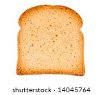 Piece Of Toast Isolated On...