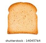 Piece Of Toast Isolated On...