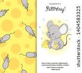 birthday card design for kidsl. ... | Shutterstock .eps vector #1404583325