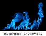 blue smoke isolated on a black... | Shutterstock . vector #1404594872