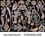 big set of traditional paisley...   Shutterstock .eps vector #1404606188