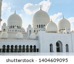 view of sheik zayed mosque in...   Shutterstock . vector #1404609095