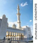 view of sheik zayed mosque in...   Shutterstock . vector #1404609098