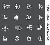 human resource icons vector | Shutterstock .eps vector #140461582