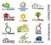 real estate vector icons set.... | Shutterstock .eps vector #140461948