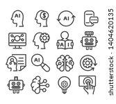 set of ai symbol  artificial... | Shutterstock .eps vector #1404620135