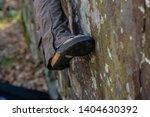 rock climbing shoe smear on...   Shutterstock . vector #1404630392