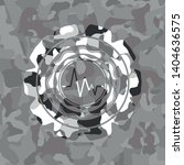 electrocardiogram icon on grey... | Shutterstock .eps vector #1404636575