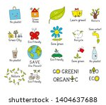 set of isolated vector eco... | Shutterstock .eps vector #1404637688