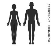 male and female body silhouette ... | Shutterstock .eps vector #1404638882