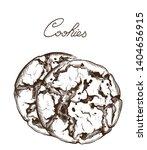 cookies line art vector.... | Shutterstock .eps vector #1404656915