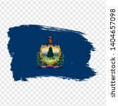 flag of vermont from brush...