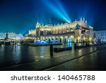 krakow old city at night.... | Shutterstock . vector #140465788